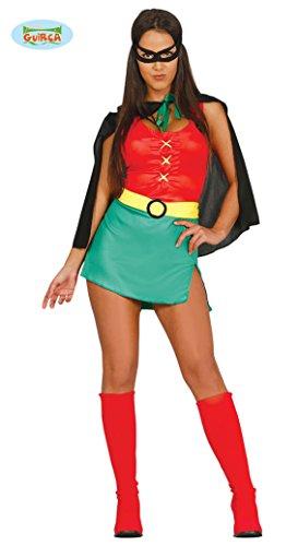 Supergirl - Kostüm für Damen Karneval Fasching Party Superheldin Heldin Gr. S - M, Größe:M (Batman Und Robin Kostüm Damen)