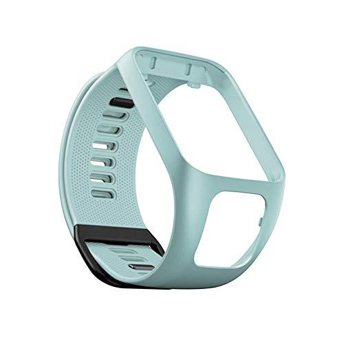 Für Tom Tom Uhrenarmbänder Ersatzarmband Fitness Tracker Wechselarmband Uhrband Schlaufe Silikon Weiche Gummi Watchband Für Tom Tom Adventurer / Golfer 2 / Runner 2 / Spark3 für Männer und Frauen