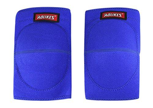 BXT 1 Paar Erwachsener Kompression Knieschoner Knieschützer Kniebandage Sport Schutzausrüstung Schwamm Gepolstert Kneepad Knie Klammer Stützhülse Wärmer für Sport Fitness Übung oder Arbeit - Schmerzlinderung, Freie Verletzung, Warm up Test