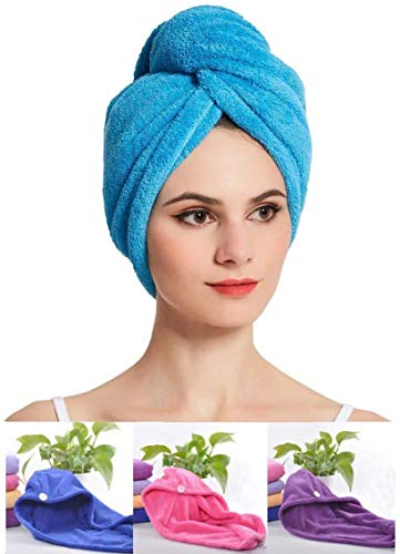 VARNI FASHION Microfiber Hair Wrap Magic Fast Dry Towel Drying Bath Spa Head Soft Cap Turban