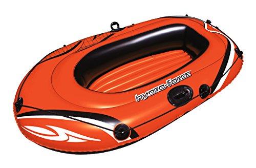 Unbekannt Schlauchboot von Bestway für eine Person mit Ruderspangen, Griffseil und Reparaturflicken, Boden aufblasbar, Länge ca. 155 cm, orange