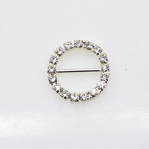 30Pcs 20mm x 20mm Forma rotonda strass fibbia cursore per matrimonio invito lettera