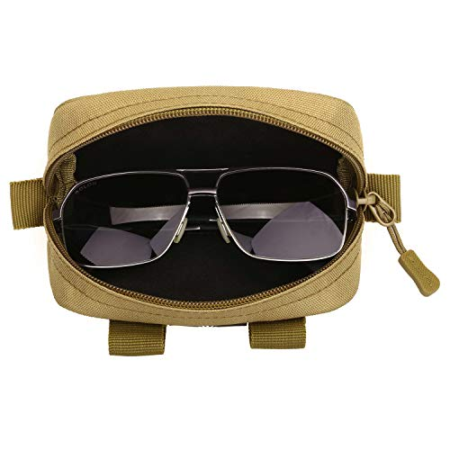 c142397456 Selighting Molle táctico gafas duro caso con cremallera Gafas de sol  estuche 1000d nailon con clip