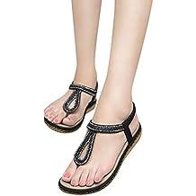 83c5d74f922c3c Sandali a Punta Aperta, LianMengMVP Sandali Estivi da Donna con Pietre  preziose Decorative - Sandalo