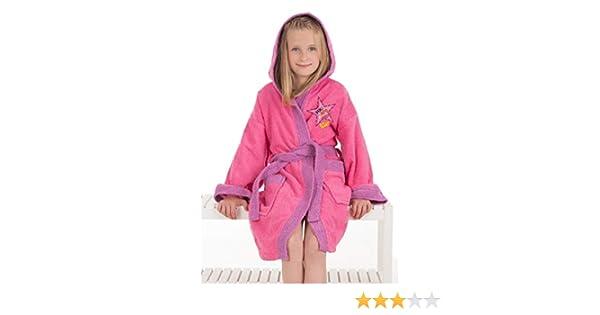 f3d5d7b460d6c Secaneta. Peignoir enfant pour fille de coton 100% mod. Star Fille 10 a 12  ans rose/violet: Amazon.fr: Cuisine & Maison
