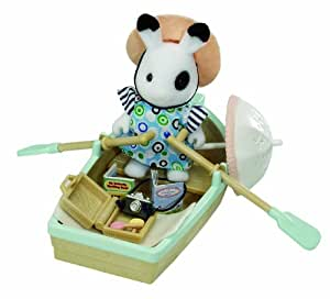 Sylvanian Families Rowing Boat and Accessories with Yvette Blackberry Figure