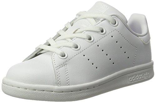 adidas Unisex-Kinder Stan Smith Gymnastikschuhe, Elfenbein (FTWR White/FTWR White/FTWR White), 32 EU - Adidas Kids Stan Smith