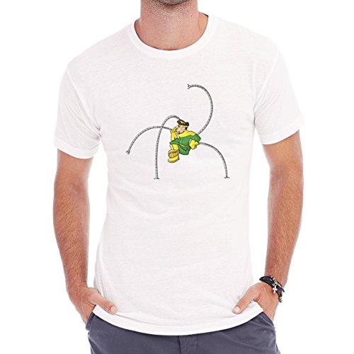 Spiderman Peter Parker Dr. Octopus Fat Green Herren T-Shirt Weiß