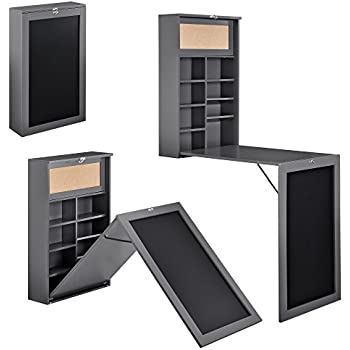sobuy fwt08 sch bureau armoire murale avec table pliable int gr e memo board et un panneau sur. Black Bedroom Furniture Sets. Home Design Ideas