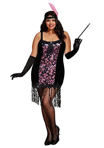 b Cutie Flapper Fancy dress costume 3X/4X (Flapper Kostüm Plus Size)