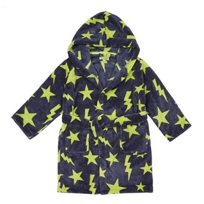 Debenhams Bluezoo Kids Boys' Navy Star Dressing Gown Age 11-12