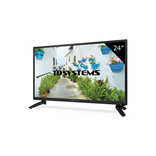 TD Systems K24DLH8H - Televisor LED de 24' (HD, HDMI, VGA, USB Reproductor y Grabador) Color Negro