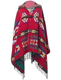 KaloryWee Châle Femme écharpe Capuche Tricot Laine Motifs Géométriques  Casual épaisse Chaud Fashion La Mode Automne-hiver Solide… 1667dfad4f5