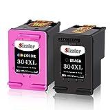 Sizzler 304XL Remanufacturéd Remplacement for HP 304 304XL Cartouches d'encre Compatible avec HP DeskJet 3720 3735 2630 3730 2620 3732 Envy 5020 5030 5032 (1 Noir, 1 Tri-Couleur)