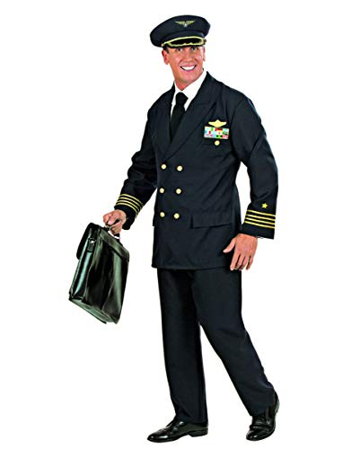 Männliche Kostüm Stewardess - Piloten Uniform Berufs-Kostüm für Herren an Fasching & Mottoparty L