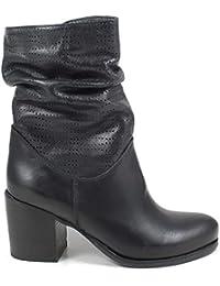 47598e6499 Amazon.it: stivaletti in pelle nero - Scarpe: Scarpe e borse