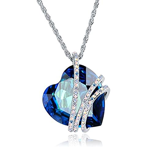 Ciondolo lingua a forma di cuore cristallo lega catena donne lingua in 100% Crystal- Elegante e Elegant- una splendida Jewel.- regalo