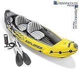 Intex. Kayak canoa scafo gonfiabile Explorer K2 2 posti in PVC accessori 68307NP modello 2018