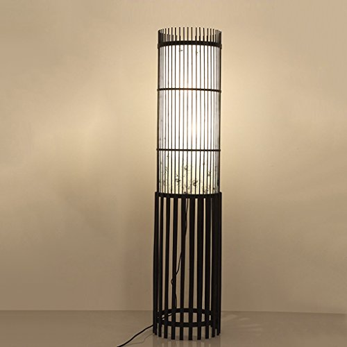 LOFAMI Traditionelle Weben Rattan Lattice Wicker Twig Dekorative Stehleuchte Softlighting Home Licht e27 * 2 ( Color : A-130*30cm ) Rattan Weben Körbe