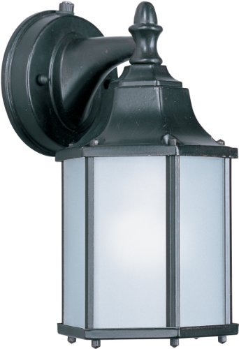 Maxim Lighting 86926EB One Light Frosted Glass Wall Lantern, Empire Bronze by Maxim Lighting (Lighting Bronze-beleuchtung Maxim)