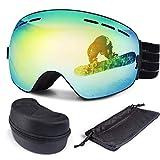 FYLINA Skibrille Snowboard Brille Schneebrille Outdoor Schutzbrillen mit Anti-Nebel UV-Schutz