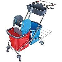 Carrito de limpieza pequeño con soporte para bolsa de basura, para hotel o edificios
