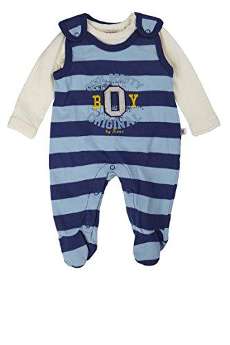Kanz Baby - Jungen Bekleidungsset Strampler + T - Shirt 1/1 Arm, Gr. 68, Mehrfarbig (y/d stripe|multicolored 0001)