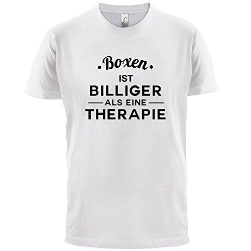 Boxen ist billiger als eine Therapie - Herren T-Shirt - 13 Farben Weiß