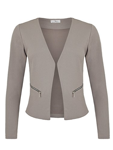 Damen Blazer mit Taschen (382), Farbe:Grau, Kostüme & Blazer für Damen:38 / M
