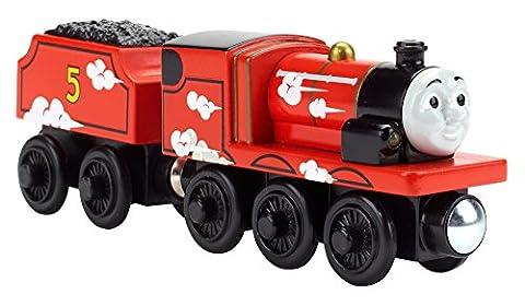 Thomas et ses Amis – Wooden Railway – James – Loco et Wagon pour Chemin de Fer en Bois