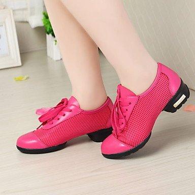 Silence @ Chaussures de danse pour femme Tissu Tissu Dance Sneakers talons Talon bas Practise Noir/bleu/rose fuchsia