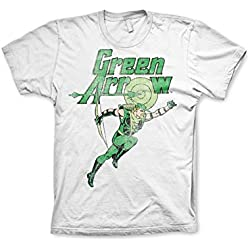 Green Arrow Distressed T-Shirt (White), XX-Large