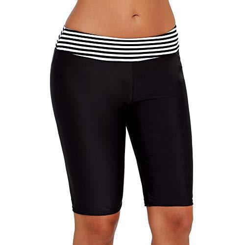 UR MAX BEAUTY Tronco De Natación para Mujer, Pantalones Cortos De Tablero UV Pantalón Corto Tankini para Traje De Baño Rash Guard para Surf Snorkel Kayak,XXXL