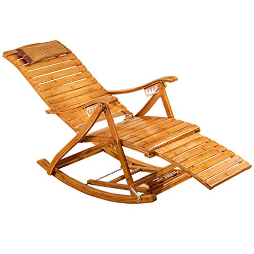 Fauteuils à bascule Chaises et fauteuils Accueil Balcon Chaise Fauteuil inclinable Chaise Longue Pliante en Bois Chaise Pliante inclinable pour Jardin Adulte