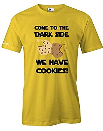 COME TO THE DARKSIDE WE HAVE COOKIES - MUST HAVE DELUXE SHIRT - HERREN - T-SHIRT in Gelb by Jayess Gr. XXXL