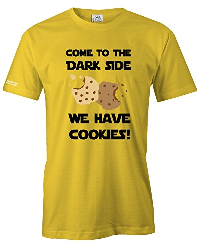COME TO THE DARKSIDE WE HAVE COOKIES - MUST HAVE DELUXE SHIRT - HERREN - T-SHIRT in Gelb by Jayess Gr. L (Cookie-gelb T-shirt)