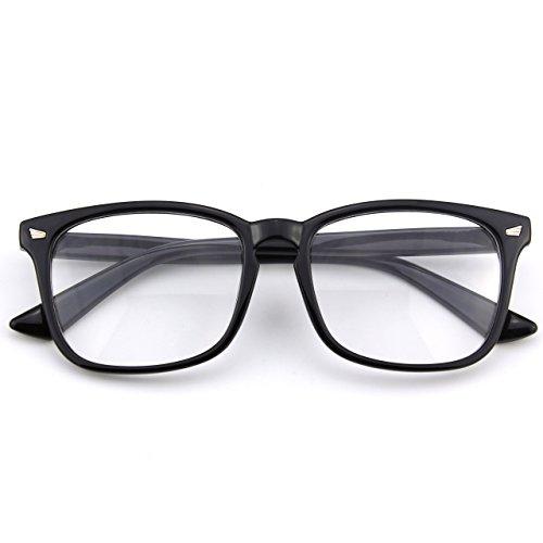 CGID CN82 Damen Herren Streberbrille:klassische Fashion Brille Oversized Bold Large Square Frame...