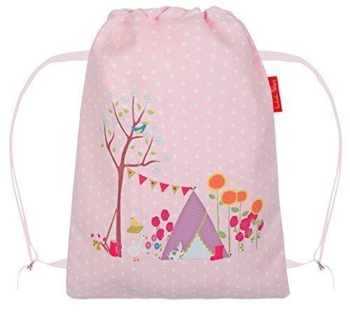 Gracie's Garten in rosa gepunktet Pumps/ Schuhe/ Fitnessstudio/ PE/ Ballett Rucksack Tasche von Izabela Peters Gracie's Garden
