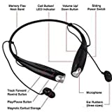 #8: TurnVolt HBS-730 Neckband Bluetooth Headphones Wireless Sport Stereo Headsets Handsfree with Microphone for Android, Apple Devices (BLACK)