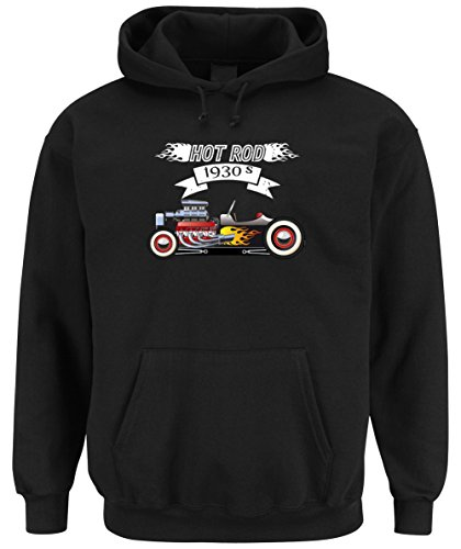 Hot Rod 1930 Hooded Sweater Black Certified Freak-XXL (Hoodie Camaro)