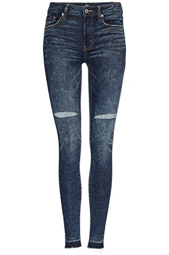 FIND Damen Jeans Distressed Blau (Rigid)