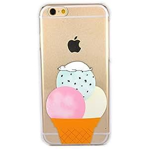 Cover iPhone 6, TrendyBox Cute Case Cover per iPhone 6 + 0.3mm Vetro Temperato Pellicola Protettiva + Gufo Cinghia Telefono (Addormentato Orso Polare)
