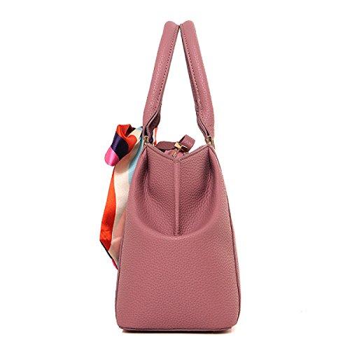 ZPFME Womens Tote Handtasche Herbst Und Winter Handtasche Mode Umhängetasche Schal Shopper Leder Party Beige