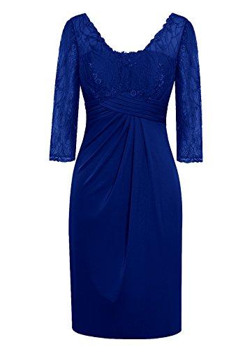 Dresstells Damen Brautjungfernkleider Kurz Party Kleider Royalblau