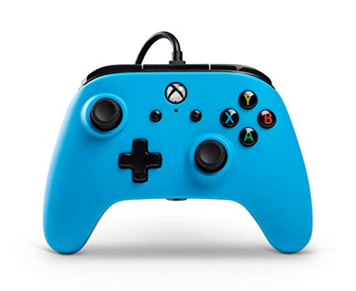 Wired Officially Licensed Controller For Xbox One, S, Xbox One X & Windows 10 - Blue - Xbox One [Edizione: Regno Unito]