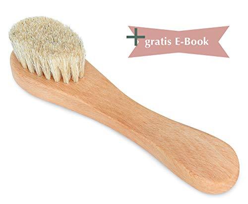 Premium Gesichtsbürste – Sanfte Peelings für Gesicht und sensible Haut, auch für basische Seifen geeignet – Gesichtsreinigungsbürste aus Holz.