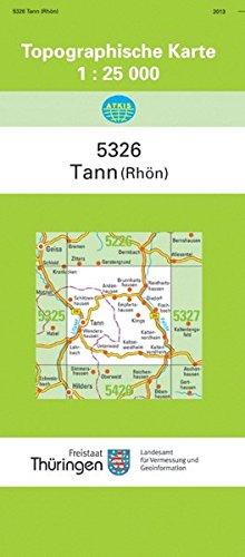 Tann (Rhön): 5326 (Topographische Karten 1:25000 (TK 25) Thüringen (amtlich))