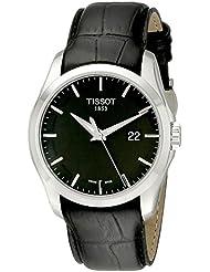 Tissot T0354101605100 - Reloj analógico de caballero de cuarzo con correa de piel negra