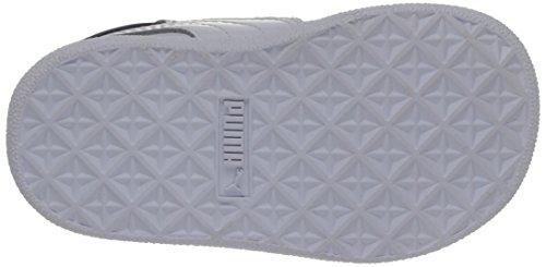 Puma Ikaz 358579/02, Baskets mode bébé fille Blanc (White/Peacoat/Peach Cobler)