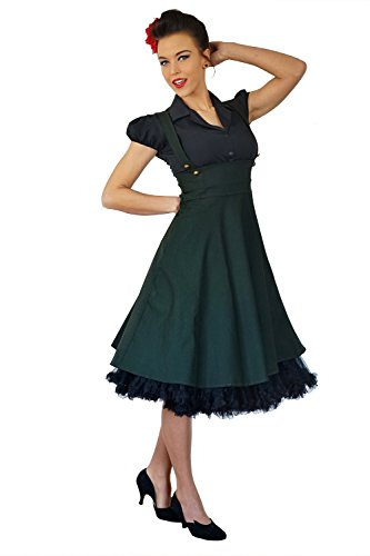 dkleid Uniform Hosenträger Swing Petticoat Kleid ()